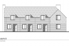 Front elevation of Houses 1-4